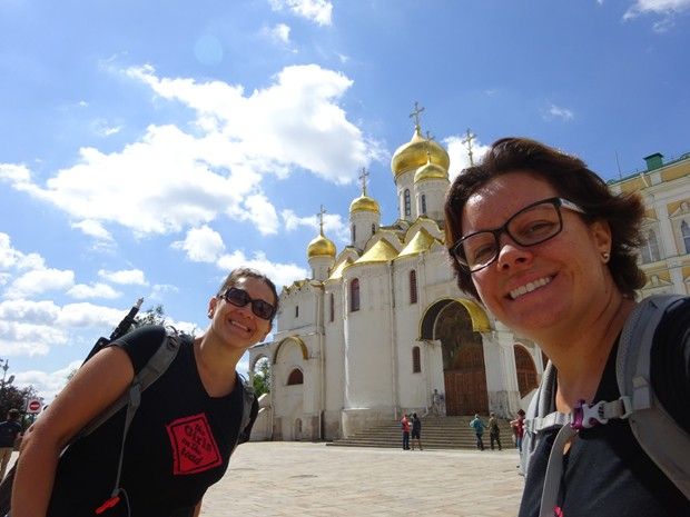 Fernanda Moura e Taciana Mello na Rússia (Foto: Girls On The Road)