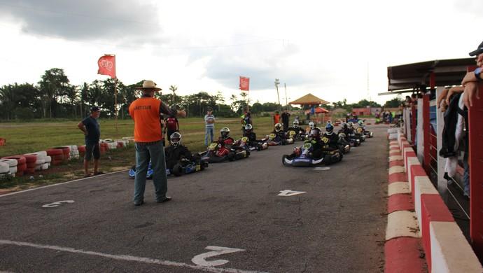 Etapa final do Municipal de Kart, em Porto Velho (Foto: Daniele Lira)