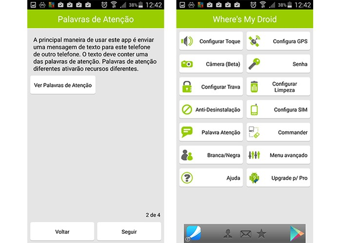 App tem interface completa e em português (Foto: Reprodução/Barbara Mannara)