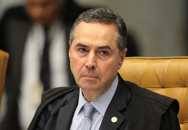 Ministro Luis Roberto Barroso durante sessão do STF (Foto: Carlos Moura/SCO/STF)