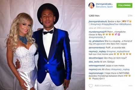 Jhenny Andrade; Neymar (Foto: Reprodução/Instagram)