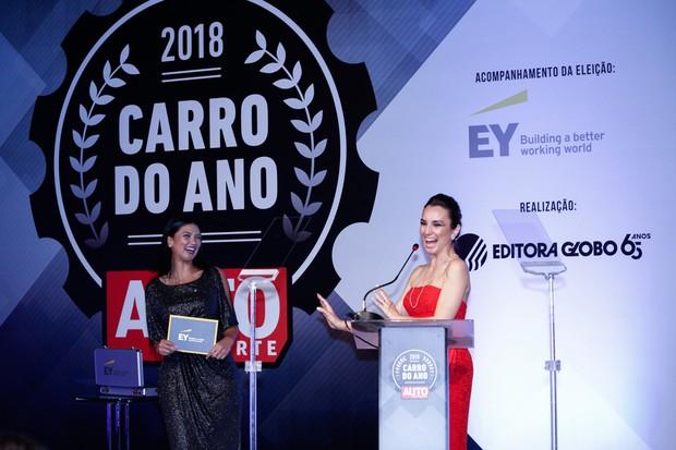 Milena Machado, mestre de cerimônia do Carro do Ano 2018 (Foto: Ricardo Cardoso)