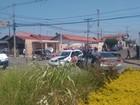 Perseguição policial termina em acidente com 5 carros em Piracicaba