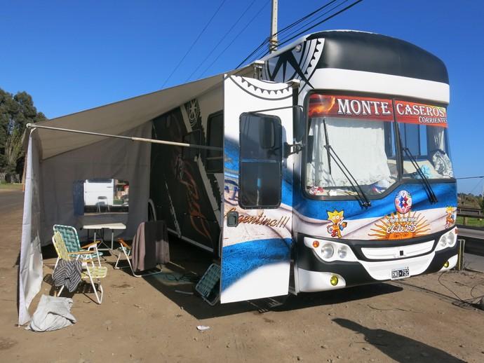 ônibus argentinos la serena (Foto: Edgard Maciel de Sá)