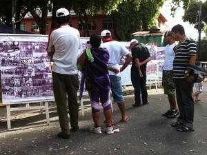 Exposição fotográfica atraiu muitos visitantes. (Foto: Diego Souza/G1)