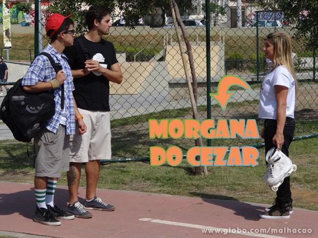 E O Orelha sacando tudo! A Fabíola da Silva é a Morgana do Cezar <3 (Foto: Malhação / Tv Globo)