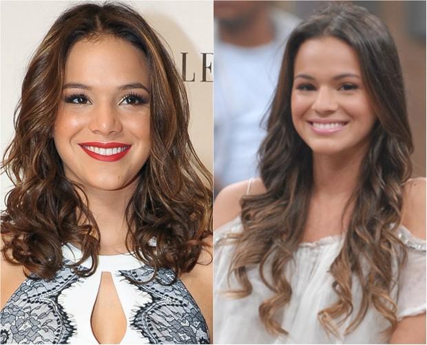 Bruna Marquezine também aposta no bayliss para deixar os cabelos volumosos (Foto: Ag. News)