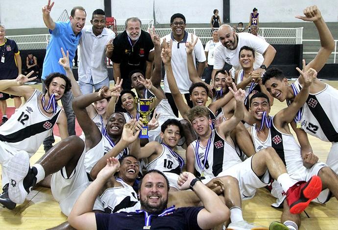 Vasco campeão basquete sub-15 (Foto: Paulo Fernandeds/Vasco.com.br)