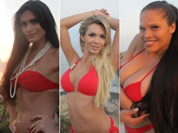 Izabely Luca, Fantiny Almeida e Bianca Soares concorrem no Miss T Brasil 2012 (Foto: Tássia Thum/G1)