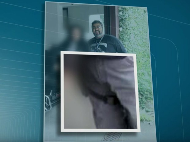 Para a polícia, bandidos podem ter confundindo porta-documentos com coldre (Foto: TV Globo/Reprodução)