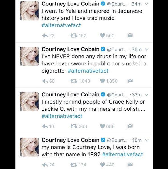Courtney Love no Twitter (Foto: Reprodução)