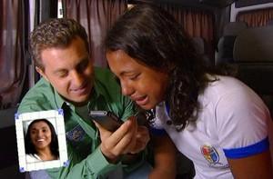 Após 'Peneira' com Marta, Duda volta ao Brasil (TV Globo)