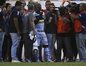 Seedorf expulsão, Madureira x Botafogo (Foto: Alexandre Brum/Agência Estado)