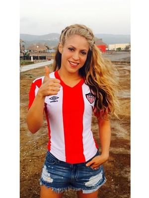 Shakira torcedora do Junior Barranquila (Foto: Reprodução Internet)