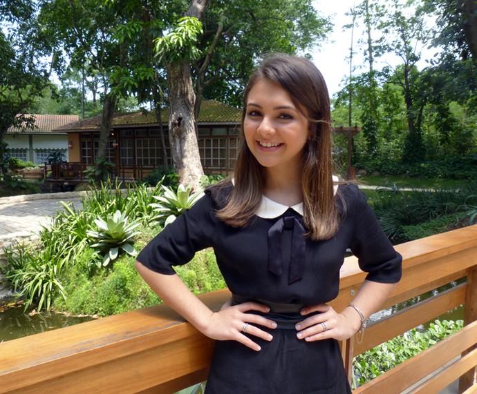 Aos 15 anos, Klara Castanho participa do É de Casa (Foto: Carolina Berger/Gshow)