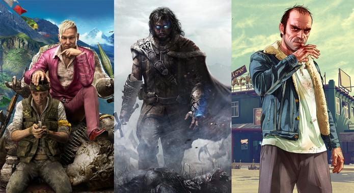 Far Cry 4, Shadow of Mordor e GTA 5 são eleitos os melhores do ano de 2014 (Foto: Arte/ TechTudo)