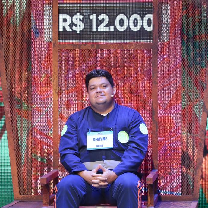 Shayne não acertou o desafio e saiu com R$ 6 mil, metade do prêmio (Foto: Carol Caminha / Gshow)