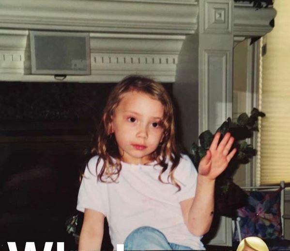 Hailie quando criança (Foto: Instagram/Reprodução)