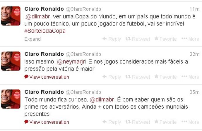 ronaldo twitter copa do mundo sorteio (Foto: Reprodução )