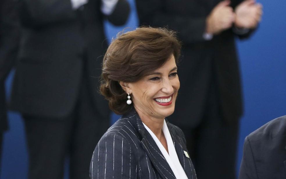 Maria Silvia Bastos, agora ex-presidente do BNDES (Foto: Marcelo Camargo/Agência Brasil)