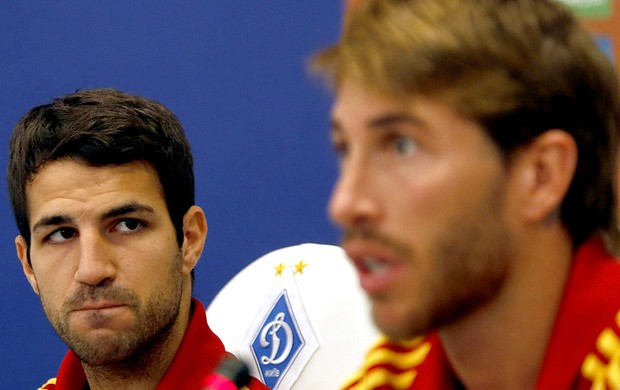 sergio ramos fabregas espanha coletiva (Foto: Ag&#234;ncia EFE)