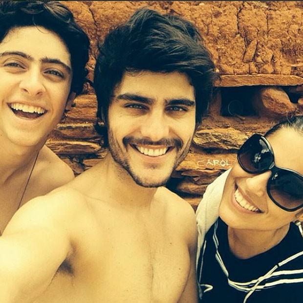 Eike Duarte, Guilherme Leicam e Camilla Camargo (Foto: Reprodução/Instagram)