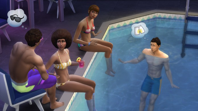 The sims 4 recebe dlc gratuito com piscinas e roupas de for Piscina sims 4