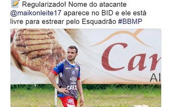 Maikon Leite tem nome publicado no BID e está apto para estrear pelo Bahia