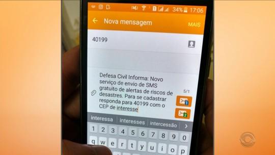 Sem sinal de celular, área de risco em SC fica sem alerta da Defesa Civil
