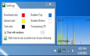 SysTray Bandwidth Monitor