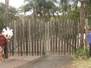 Parque Ecológico foi fechado após anta escapar duas vezes em São Carlos (Foto: Felipe Lazzarotto/ EPTV)
