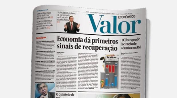 Jornal Valor Econômico  (Foto: Reprodução)