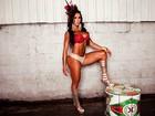 Veja mais fotos de Gracyanne Barbosa em ensaio de carnaval na quadra da X9