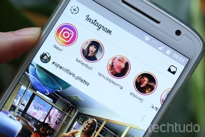 Como usar snaps em posts do Instagram Stories (Foto: Carolina Oliveira/TechTudo)
