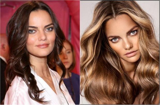 A modelo Barbara Fialho muda de visual e troca cabelos escuros por loiros (Foto: Getty e Beau Nelson)