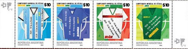 Selos da Argentina (Foto: Reprodução/Correo Argentino)