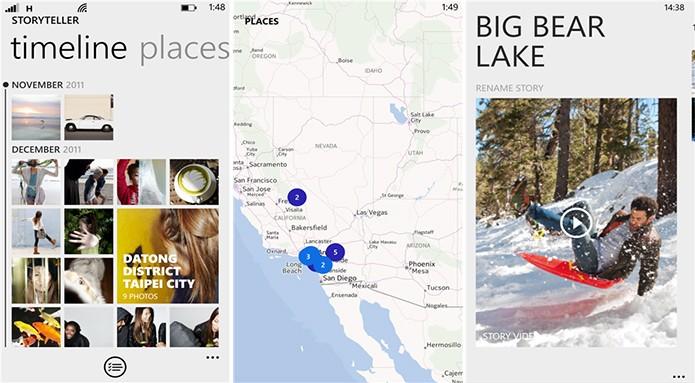 Nokia Storyteller cria álbuns virtuais para fotos e vídeos de acordo com a localização da captura (Foto: Divulgação/Windows Phone Store)