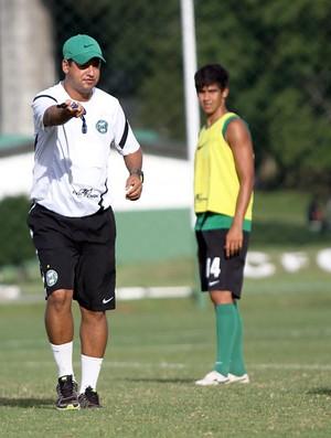 Marquinhos Santos e Leandro Almeida no treino do Coritiba (Foto: Divulgação / Site oficial do Coritiba)