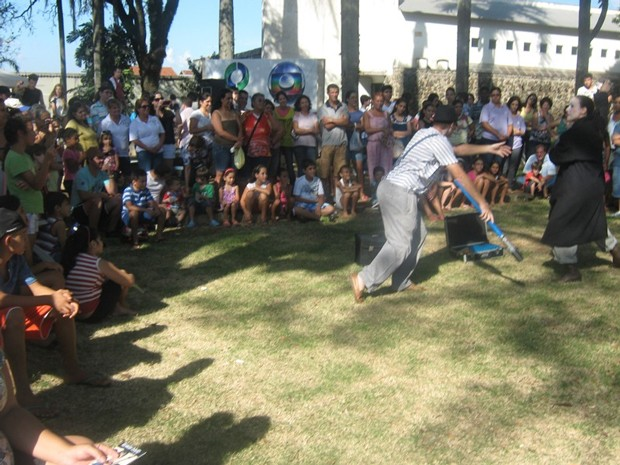 Crianças se divertiram o dia todo com brincadeiras e apresentações culturais (Foto: Divulgação/RPC TV)