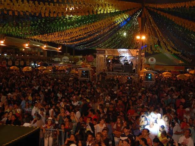 Abertura do São João de Campina Grande  (Foto: Rafael Melo/ G1 )