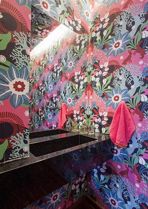 lavabo-papel-de-parede-Estudio-KA (Foto: Gui Morelli/Editora Globo)