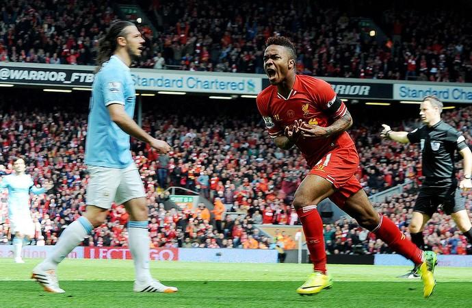 Sterling liverpool gol Manchester City (Foto: Agência EFE)