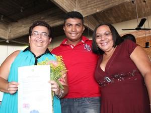Filho de Lurdes comemora união de sua mãe com Rosangela (Foto: Gil Oliveira/G1)