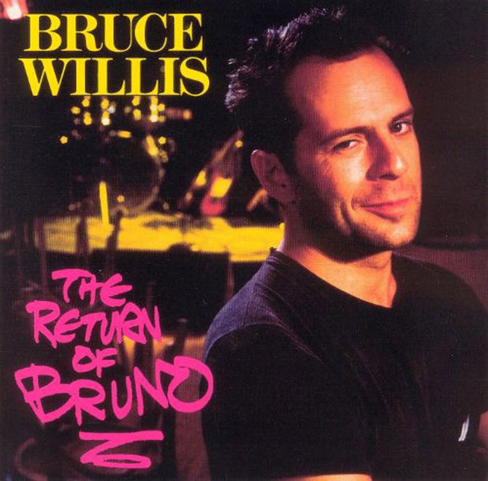 Capa do disco 'The return of Bruno' (1988), primeiro lançado pelo ator Bruce Willis (Foto: Divulgação)