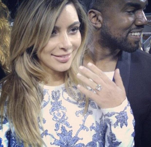 Kim Kardashian e Kanye West (Foto: Reprodução/ Instagram)