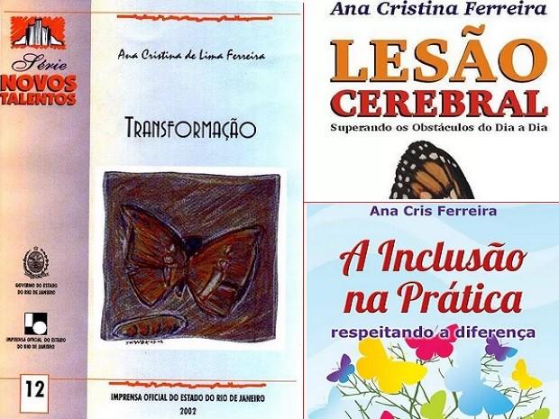 Segundo, terceiro e quarto livro, lançado em Campos, da escritora Ana Cris (Foto: Arquivo pessoal)