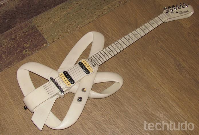 Primeira guitarra totalmente impressa em 3D é brasileira  (Foto: Paulo Alves/TechTudo)
