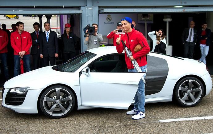 Cristiano Ronaldo carro evento Audi (Foto: Getty Images)