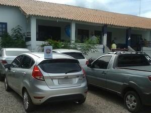 Carros apreendidos pelo Gati no Sertão Pernambucano (Foto: Divulgação/ Gati/PM)