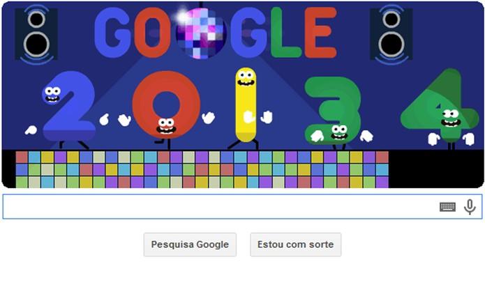 Véspera de Ano Novo é tema de Doodle do Google no réveillon (Foto: Reprodução)